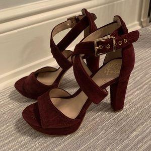 Never worn Burgundy Vince Camuto Heels